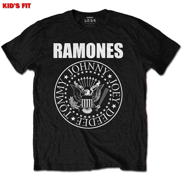 Ramones - Presidential Seal Kids 12 - 13 Years T-Shirt - Black