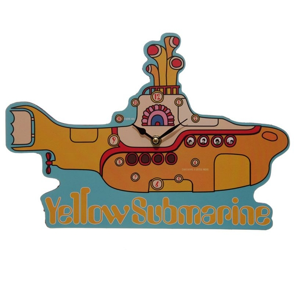 Funky Beatles Yellow Submarine Wall Clock - Image 1