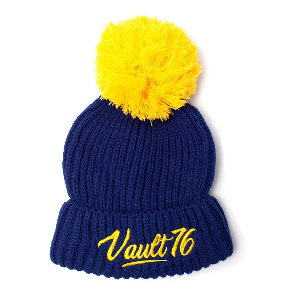 Fallout - Embroidered Vault 76 Logo Unisex One Size Beanie - Blue/Yellow