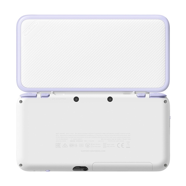 New Nintendo 2DS XL White and Lavender Console Pre-installed with Tomodachi Life (UK Plug) - Image 2