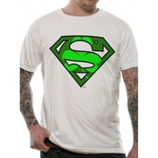 Superman - Shamrock Men's Small T-Shirt - White