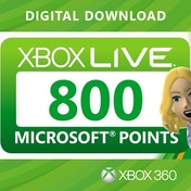 Xbox Live 800 Microsoft Points Xbox 360 Digital Download