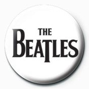 The Beatles - Black Logo Badge