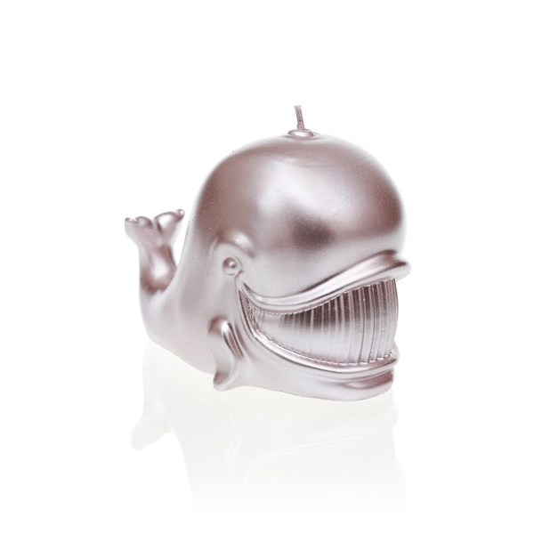 Silver Whale Candle