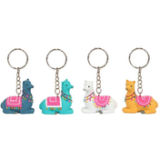 Sitting Alpaca Keyring Pack Of 24