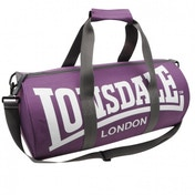 Lonsdale Barrel Bag Purple & Grey