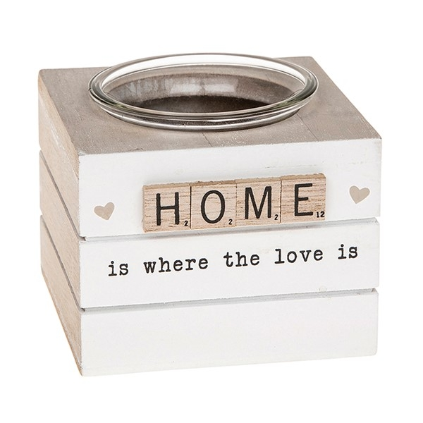 Scrabble Tealight Holder Home