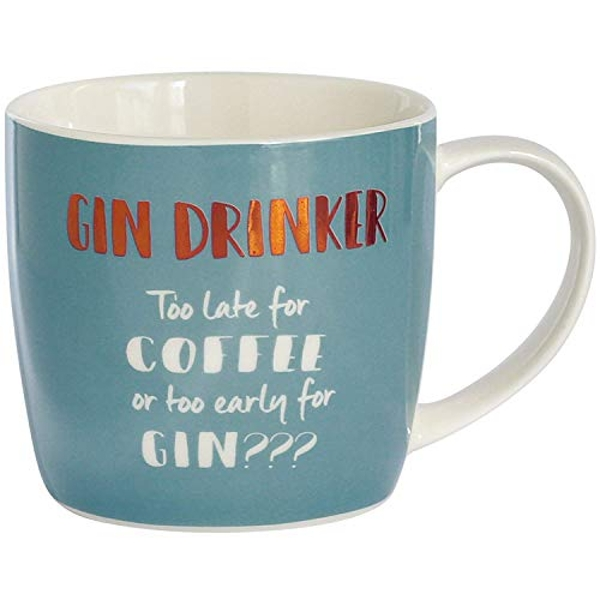 Arora Ultimate Gift for Girls 8706 Gin Drinker Mug in a Box, Ceramic
