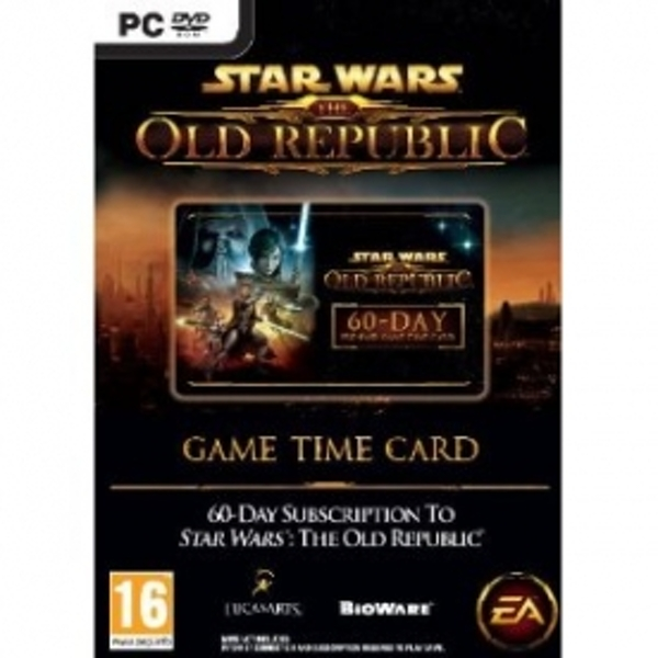 Star Wars The Old Republic Time Card 60 Day Game PC