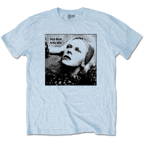 David Bowie - Hunky Dory Mono Unisex Small T-Shirt - Blue
