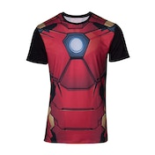 Iron Man Suit Sublimation Men's Small T-Shirt - Red