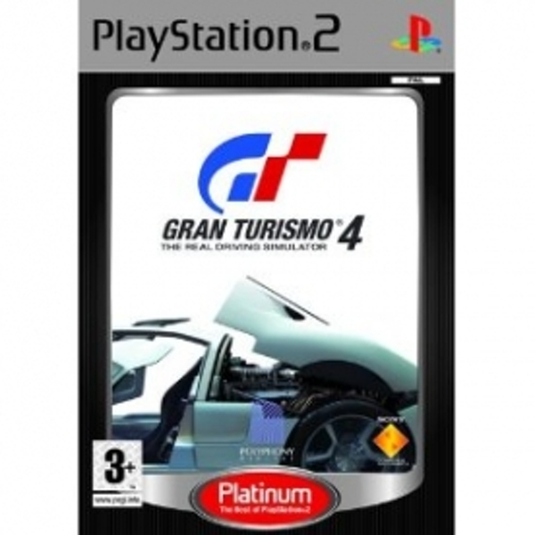 Ex-Display Gran Turismo 4 The Real Driving Simulator (Platinum) Game PS2 Used - Like New