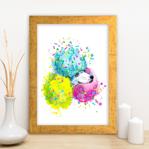AC12291373484 Multicolor Decorative Framed MDF Painting