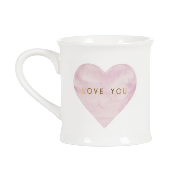 Sass & Belle Love You Pastel Pink Heart Mug