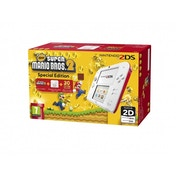 Nintendo 2DS Handheld Console Red & White UK Plug with New Super Mario Bros 2