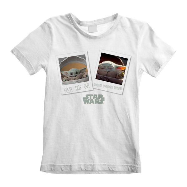 Mandalorian - First Trip Out Unisex 12-13 Years T-Shirt - White