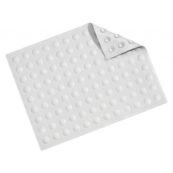 Croydex Double Sucker Bath Shower Mat White