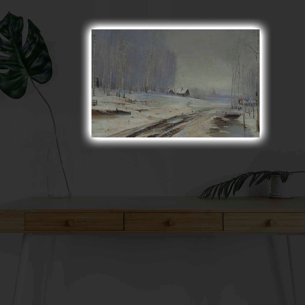 4570KARDACT - 039 Multicolor Decorative Led Lighted Canvas Painting