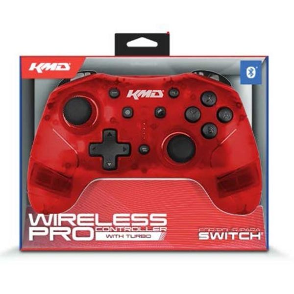 KMD Red Bluetooth Wireless Pro Controller For Switch