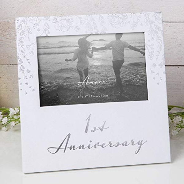 "6"" x 4"" - AMORE BY JULIANA? Photo Frame - 1st Anniversary"