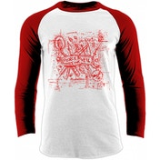 Pierce The Veil - Knives Men's X-Large Baseball Shirt - White