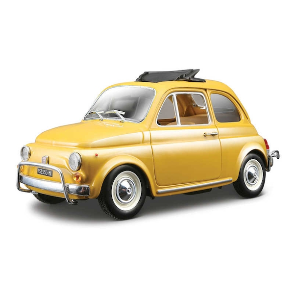 1:24 1968 Fiat 500 Diecast Model (Yellow)