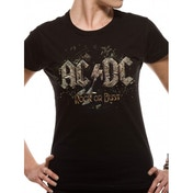 AC/DC Rock Or Bust Womens T-Shirt Large - Black