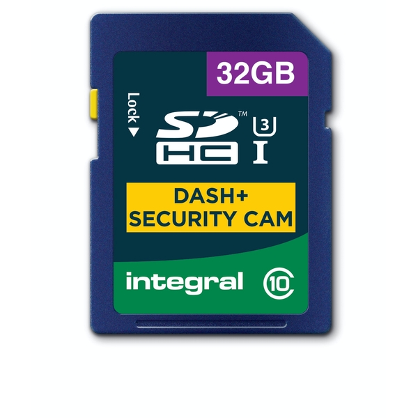 Integral 32GB SD Card SDHC Cl10 U3 R-95 W-60 Mb/S Dash & Security Cam
