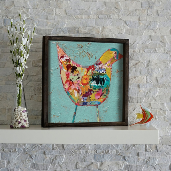 KZM488 Multicolor Decorative Framed MDF Painting