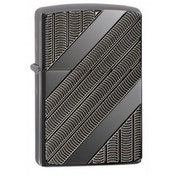 Zippo Tyre Tread Armor High Polish Black Ice