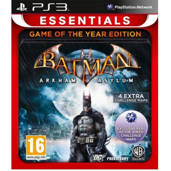 Batman Arkham Asylum Game Of The Year Edition GOTY PS3 Game (Essentials)