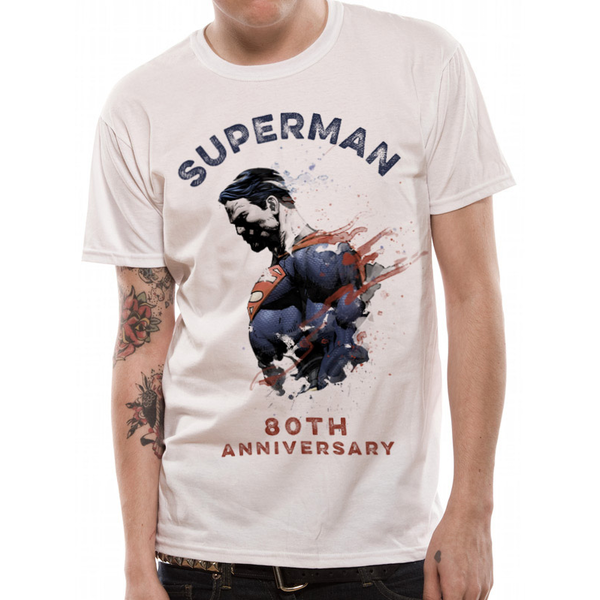 Superman - 80th Anniversary Men's Medium T-Shirt - White
