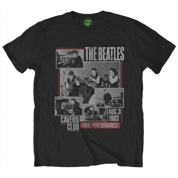 The Beatles - Final Performance Unisex X-Large T-Shirt - Black