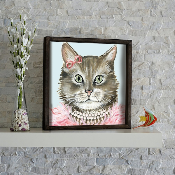 KZM609 Multicolor Decorative Framed MDF Painting