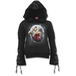 Angel of Death Women's Large Black Ribbon Gothic Hoodie - Black - Image 2