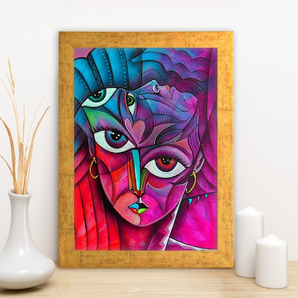 AC1535374712 Multicolor Decorative Framed MDF Painting