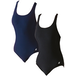 SwimTech Splashback Black Swimsuit Adult - 34 Inch - Image 2
