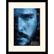 Game Of Thrones - Winter Is Here - Jon Mounted & Framed 30 x 40cm Print