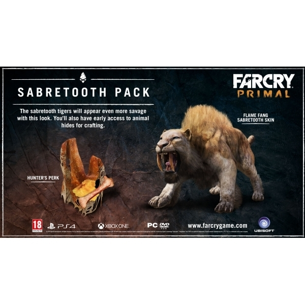Far Cry Primal Ps4 Game Sabretooth Dlc Pack With Exclusive 3d Cover Ozgameshop Com