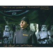 Star Wars - Personally Signed 10X8 Christopher Muncke - Capt Khurgee