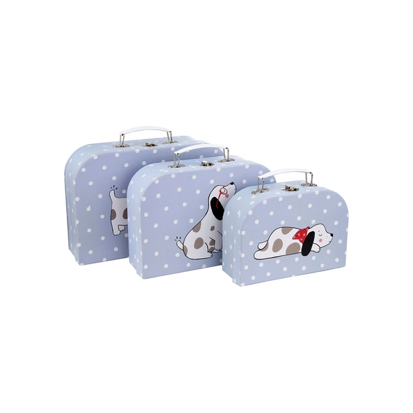 Sass & Belle Barney The Dog Suitcases (Set of 3)