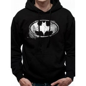 Batman - Mono Distressed Logo Men's X-Large T-Shirt - Black