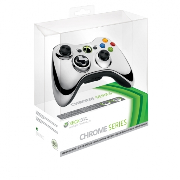 Ex-Display Official Microsoft Silver Chrome Wireless Controller Xbox 360 Used - Like New