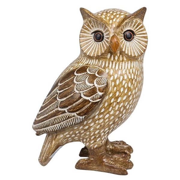 Country Brown Owl Left Ornament
