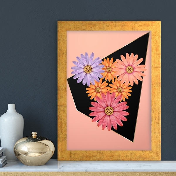 AC7224632743 Multicolor Decorative Framed MDF Painting