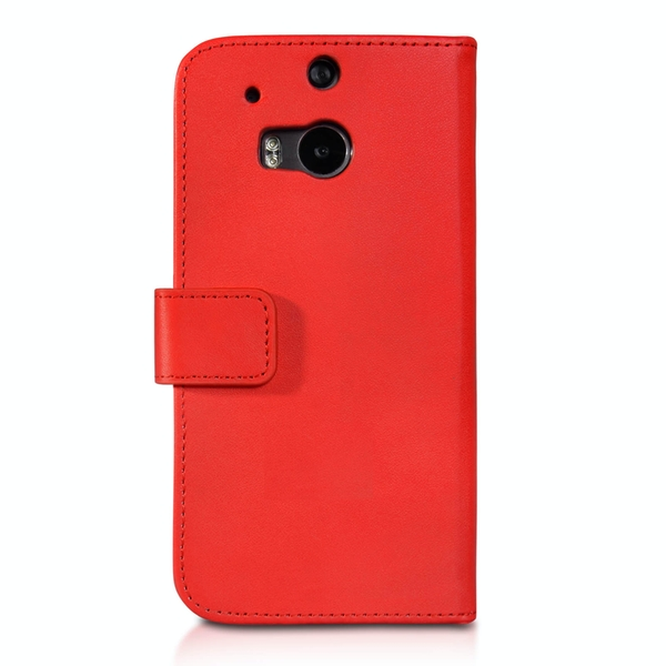 YouSave Accessories HTC One M8 Leather-Effect Wallet Case - Red - Image 2