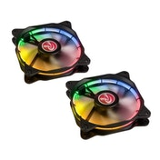 Raijintek Auras 12 RGB LED Fan with Controller 120mm - 2 Pack