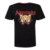 Aggretsuko - Retsuko Rage Trash Metal Men's Small T-Shirt - Black