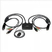 Startech 2 Port USB DisplayPort Cable KVM Switch with Audio and Remote Switch