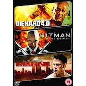 Die Hard 4.0/Hitman/The Marine DVD